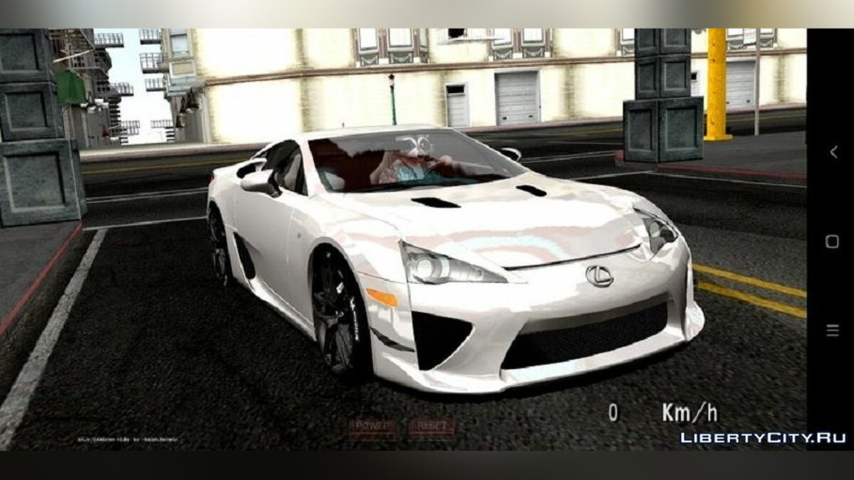 Car Lexus lfa for GTA San Andreas (iOS, Android)