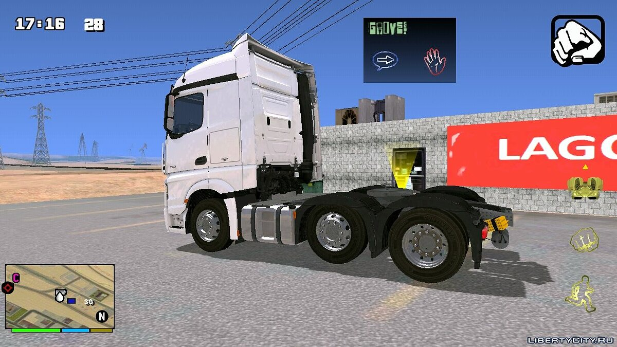Car MB Actros Truck for GTA San Andreas (iOS, Android)