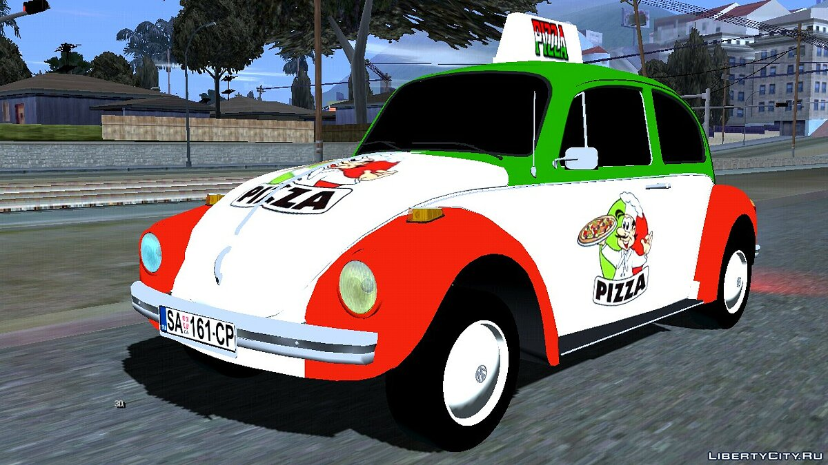 Car Volkswagen Beetle Pizza for GTA San Andreas (iOS, Android)