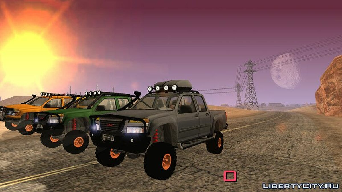 GMC Canyon 2007 Tuneable for GTA San Andreas (iOS, Android) - Картинка #1