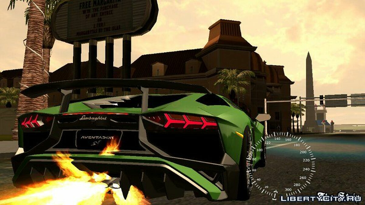 Car Lamborghini Aventador SV for GTA San Andreas (iOS, Android)