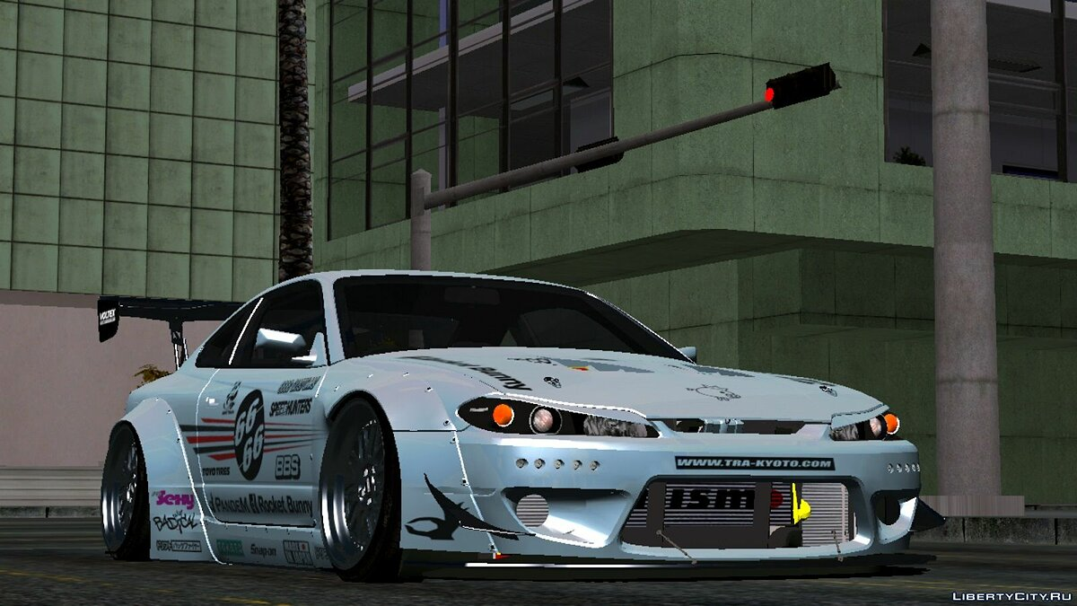 Car [REL ANDROID] Nissan Silvia S15 Spec-R Rocket Bunny 2002 for GTA San Andreas (iOS, Android)