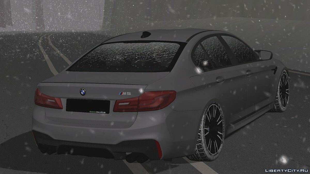 Car BMW M5 (Winter version) for GTA San Andreas (iOS, Android)