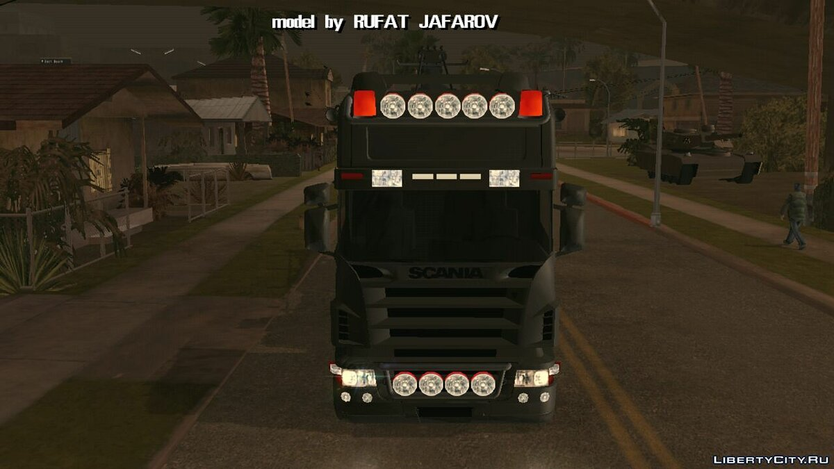 Car Rotator Scania for GTA San Andreas (iOS, Android)