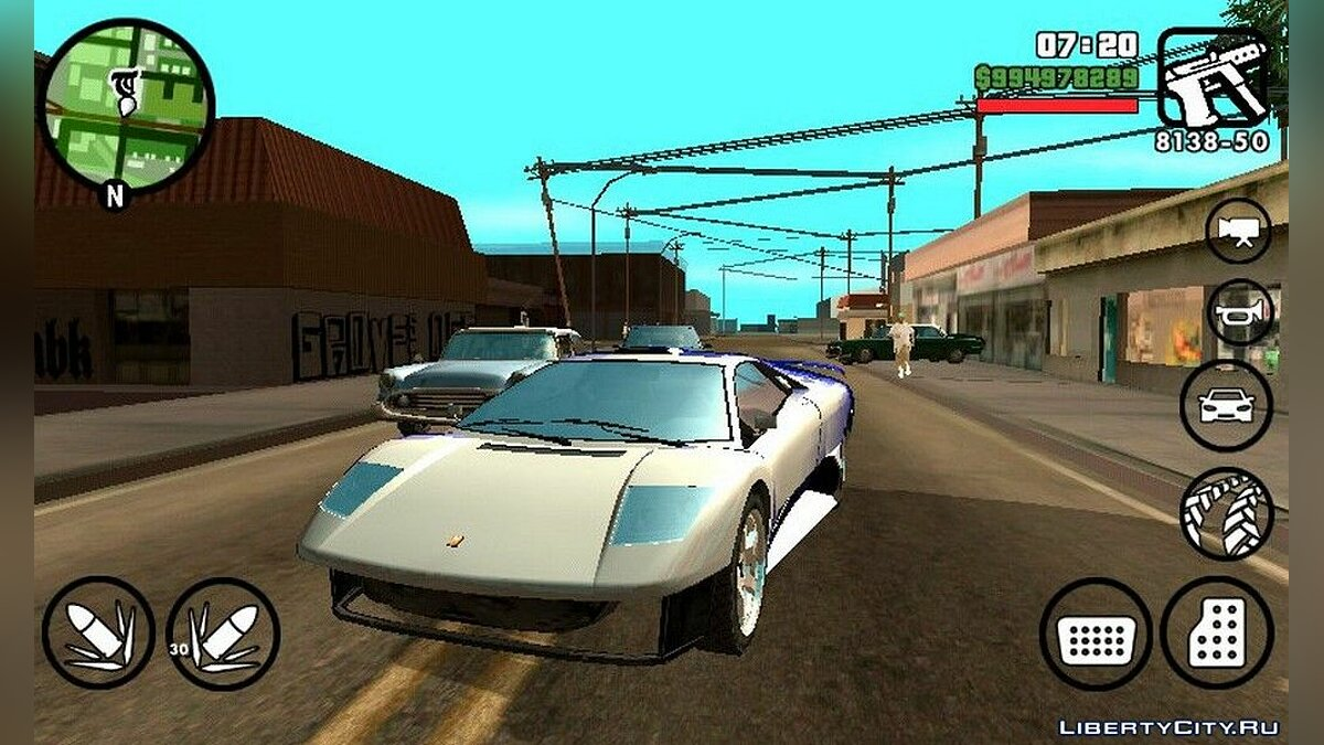 Car Infernus from GTA IV for GTA San Andreas (iOS, Android)
