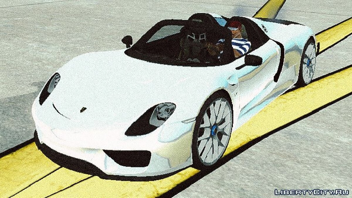 Car Porsche 918 Spyder Weissach Package for GTA San Andreas (iOS, Android)
