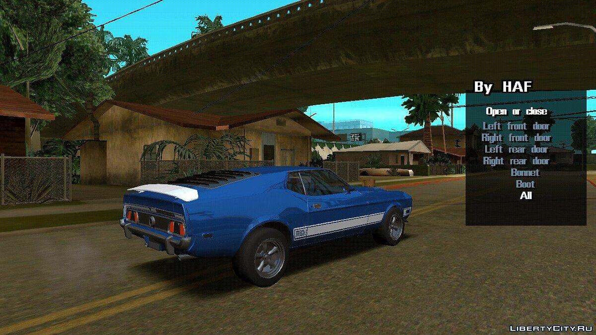 Car 1973 Ford Mustang Mach 1 (DFF only) for GTA San Andreas (iOS, Android)