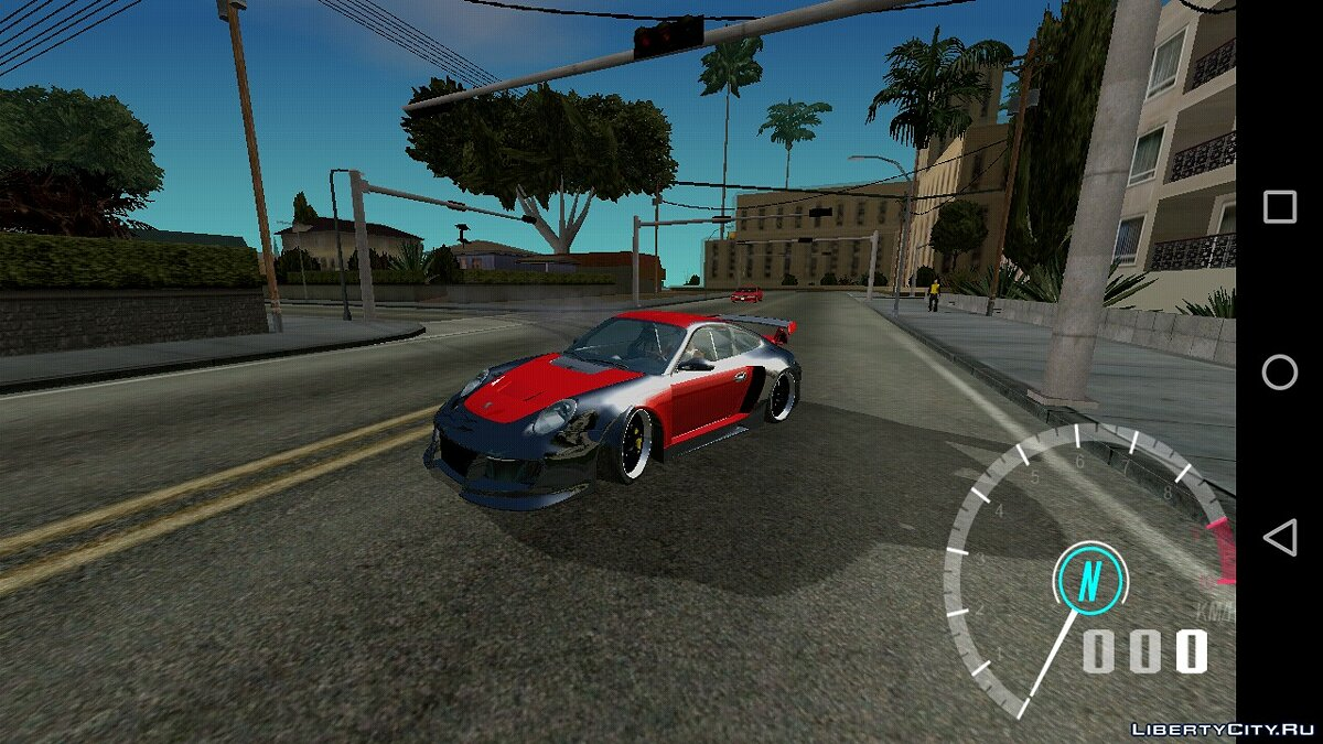Car Porsche 911 GT2 from NFS: Undercover for GTA San Andreas (iOS, Android)