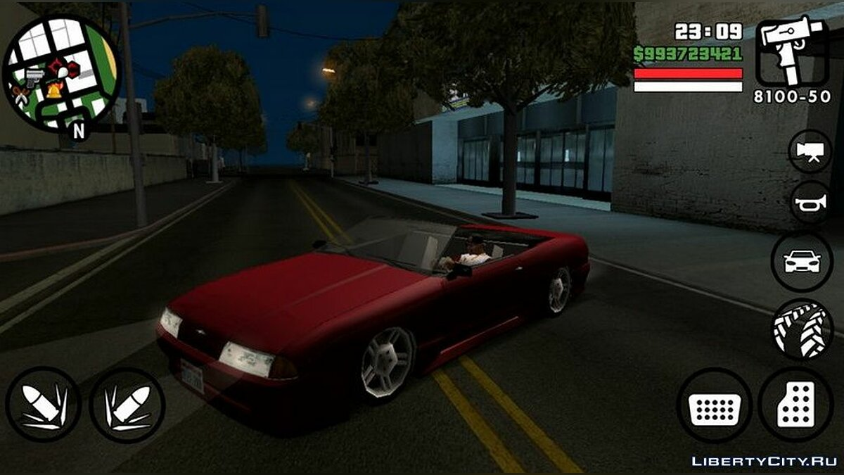 Car Elegy roofless for GTA San Andreas (iOS, Android)