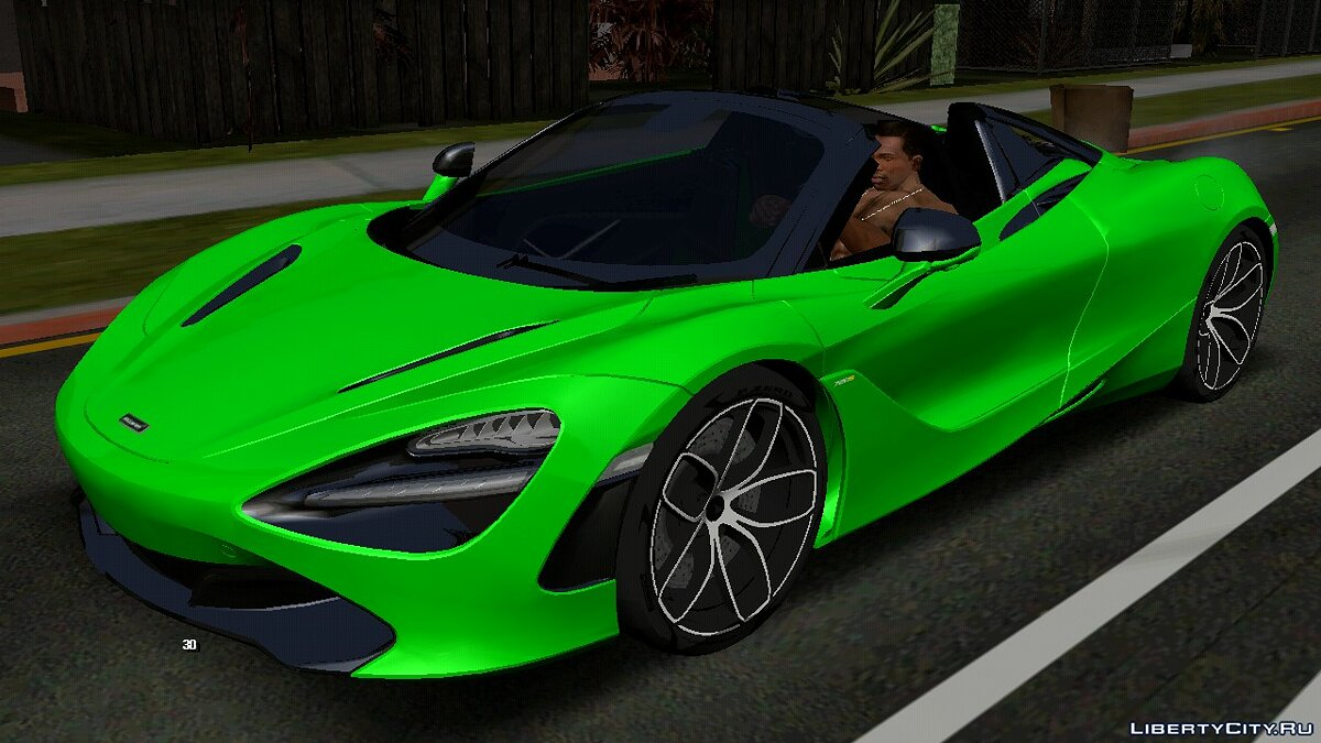 Car McLaren 720S Spider for GTA San Andreas (iOS, Android)