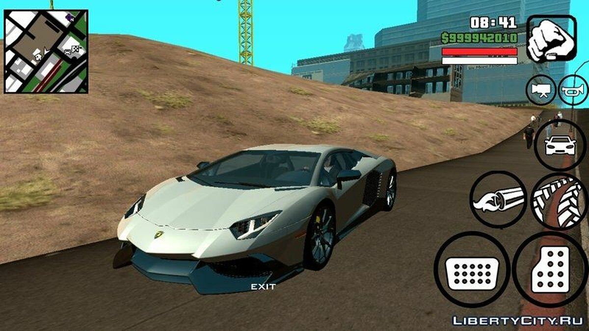 Lamborghini Aventador 50th Anniversario for Android for GTA San Andreas (iOS, Android) - Картинка #1