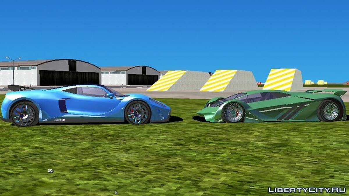 Car Pak cars Super Sport Series from GTA 5 for GTA San Andreas (iOS, Android)