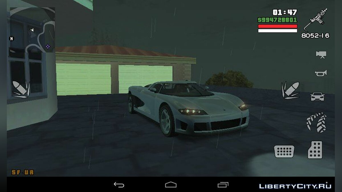 Entity XF из GTA 5 for GTA San Andreas (iOS, Android)
