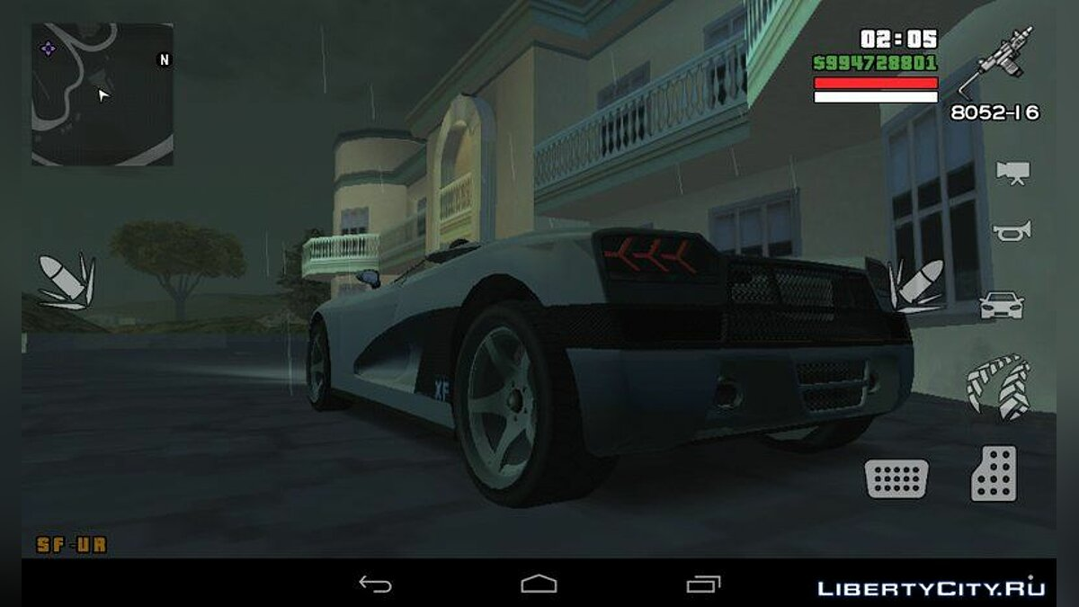 Entity XF из GTA 5 for GTA San Andreas (iOS, Android) - screenshot #3