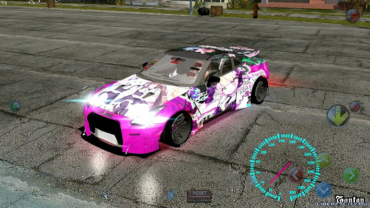 Car Nissan GT-R Need for Speed for GTA San Andreas (iOS, Android)