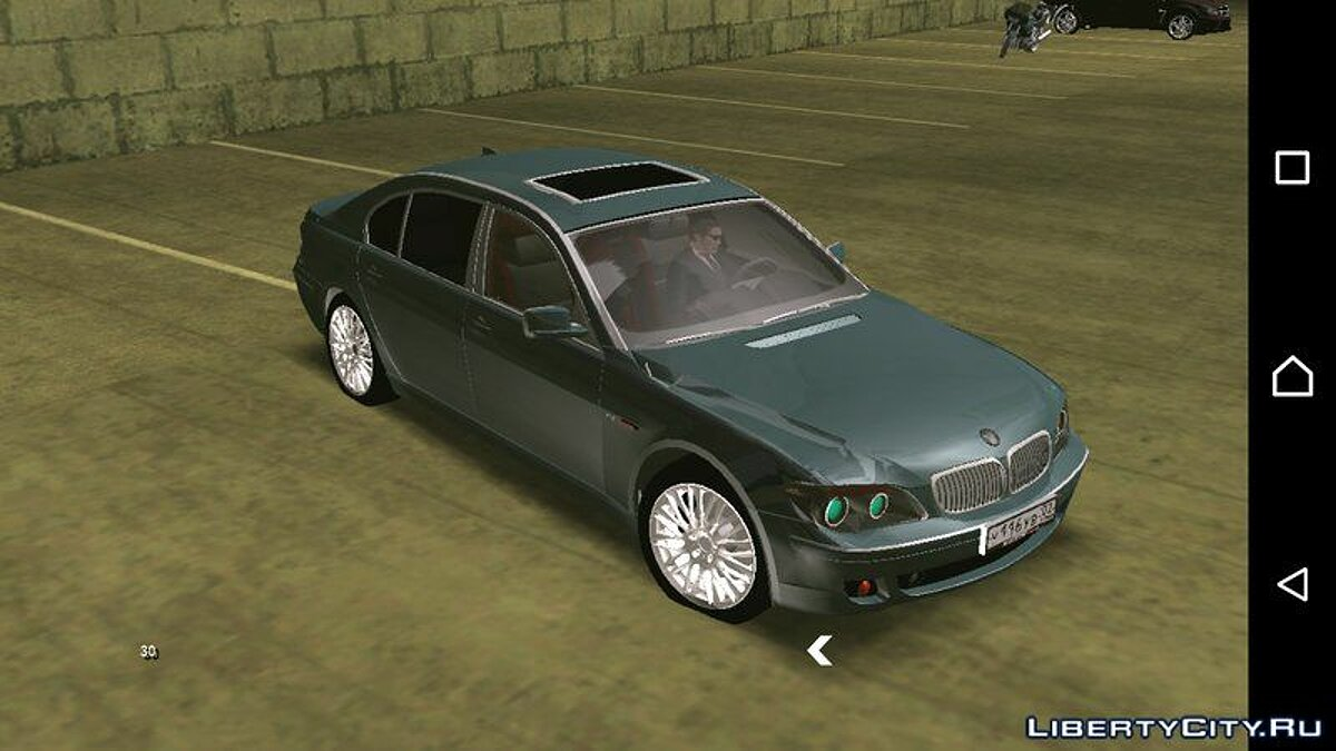 BMW 760i (no txd) for Android for GTA San Andreas (iOS, Android) - screenshot #2