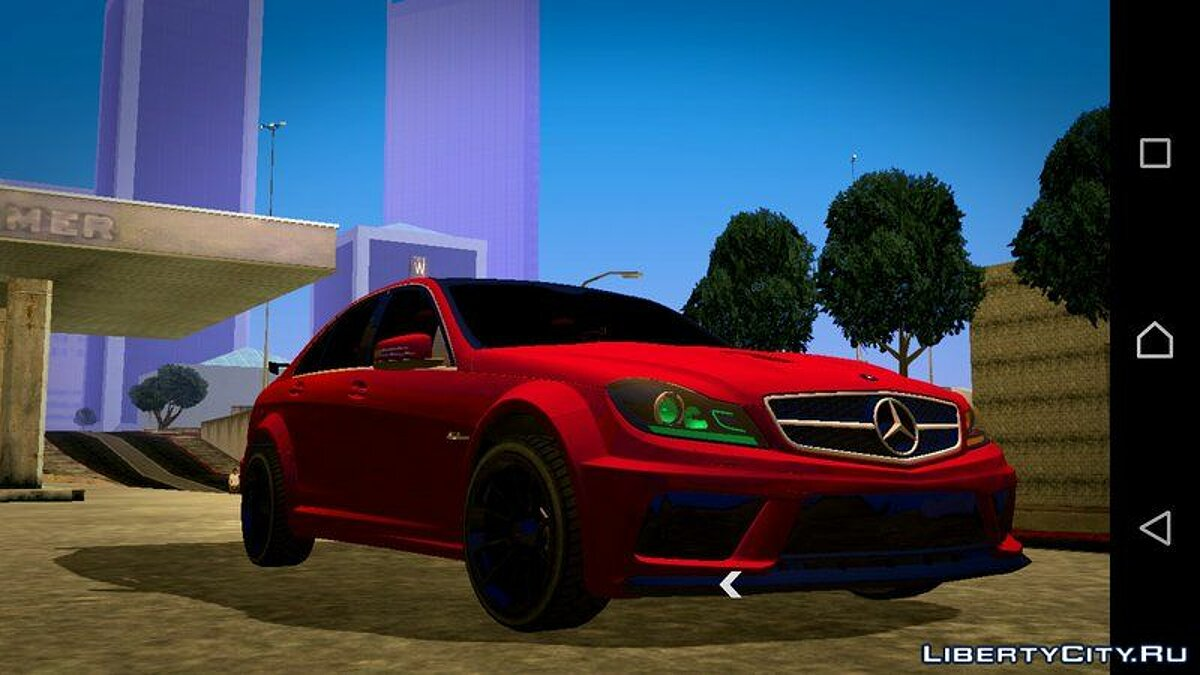 Mercedes-Benz C63 AMG 2012 for GTA San Andreas (iOS, Android) - Картинка #1