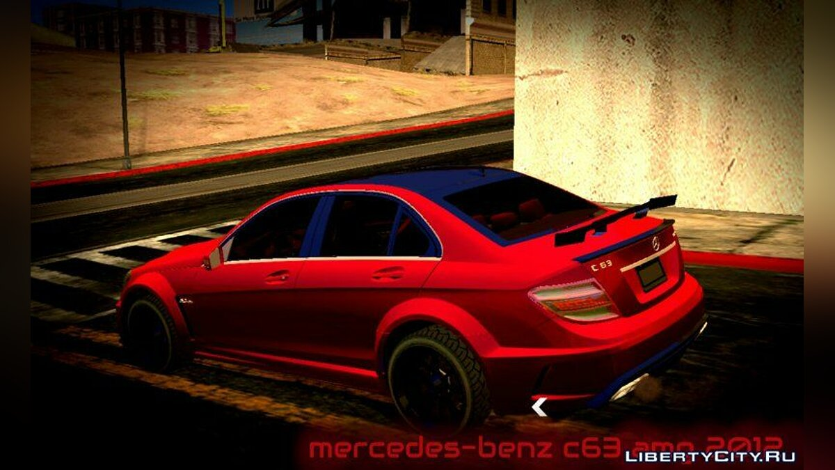 Mercedes-Benz C63 AMG 2012 for GTA San Andreas (iOS, Android) - Картинка #4