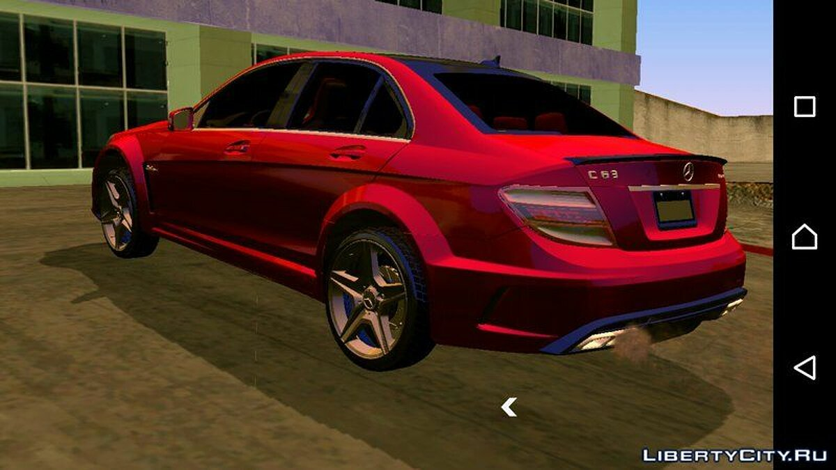 Mercedes-Benz C63 AMG 2012 for GTA San Andreas (iOS, Android) - Картинка #2