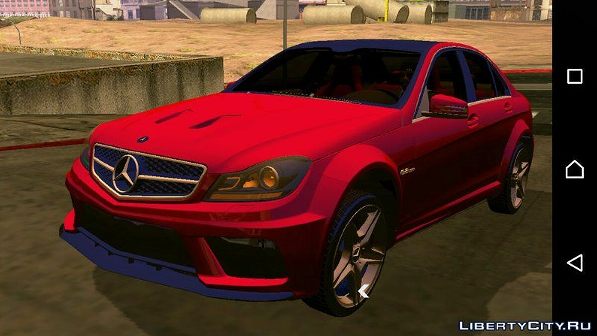 Mercedes-Benz C63 AMG 2012 for GTA San Andreas (iOS, Android) - Картинка #5