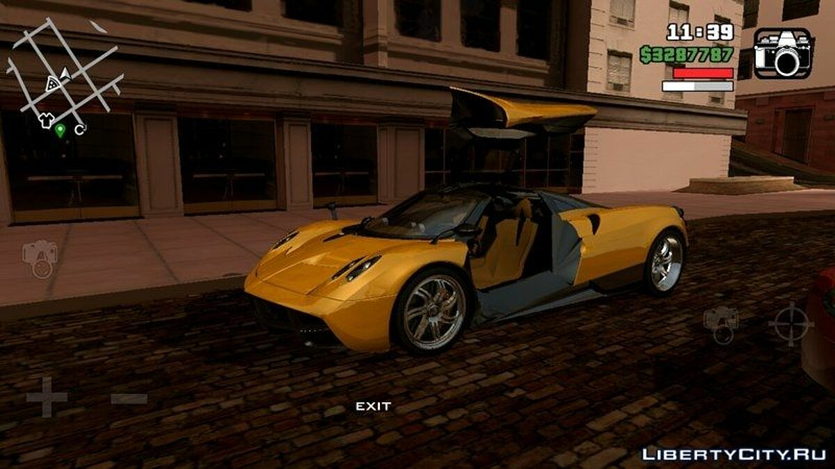 Pagani Huayra for GTA San Andreas (iOS, Android) - screenshot #2