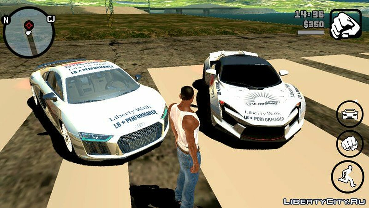 Car Audi R8 2018 Liberty Walk for GTA San Andreas (iOS, Android)