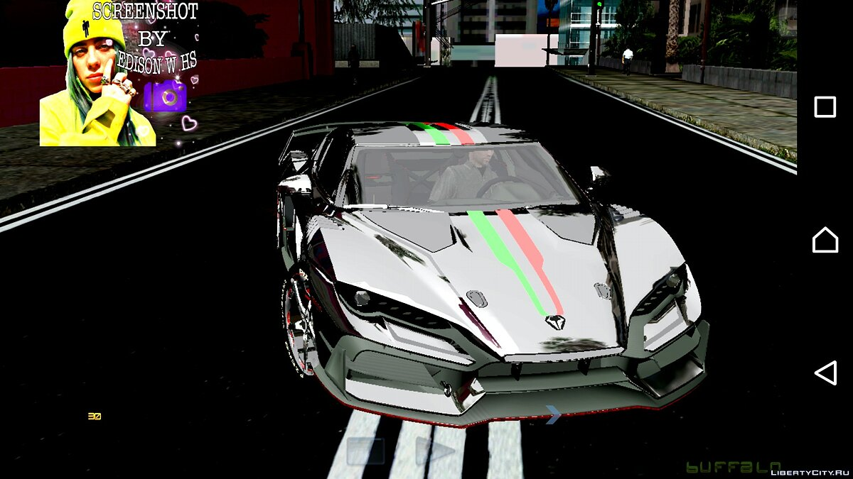 Car Italdesign Zerouno 19 (DFF only) for GTA San Andreas (iOS, Android)