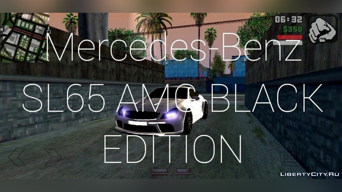 Mercedes-Benz SL65 AMG BLACK EDITION for GTA San Andreas (iOS, Android) - Картинка #1