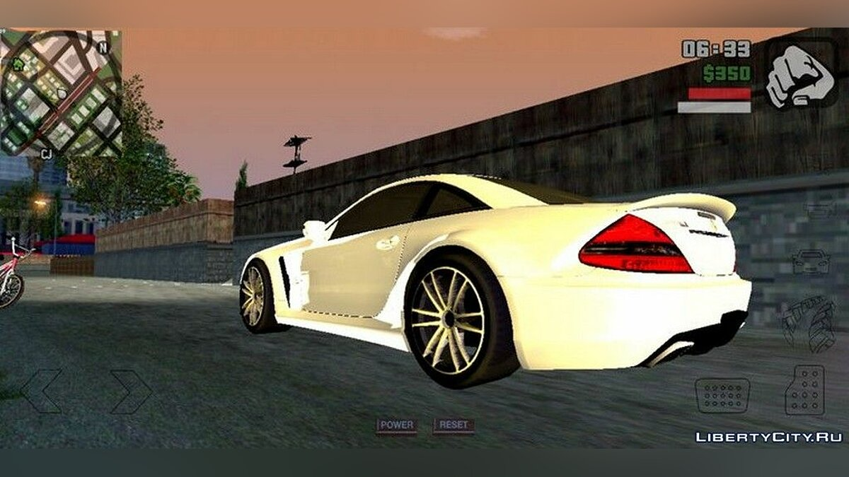 Mercedes-Benz SL65 AMG BLACK EDITION for GTA San Andreas (iOS, Android) - Картинка #4