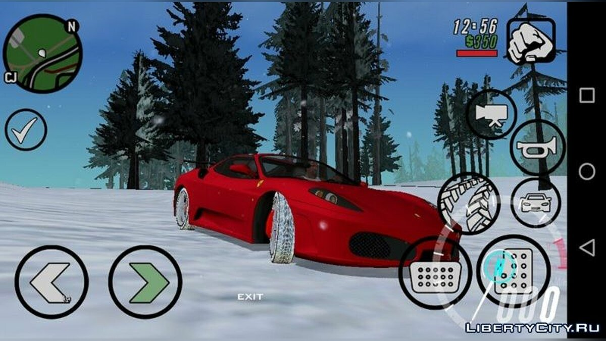 Car textures Winter tire textures (cars from Rev_Groma) for GTA San Andreas (iOS, Android)