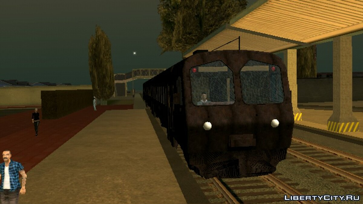 Car textures ED-4M electric train (rusty) for GTA San Andreas (iOS, Android)