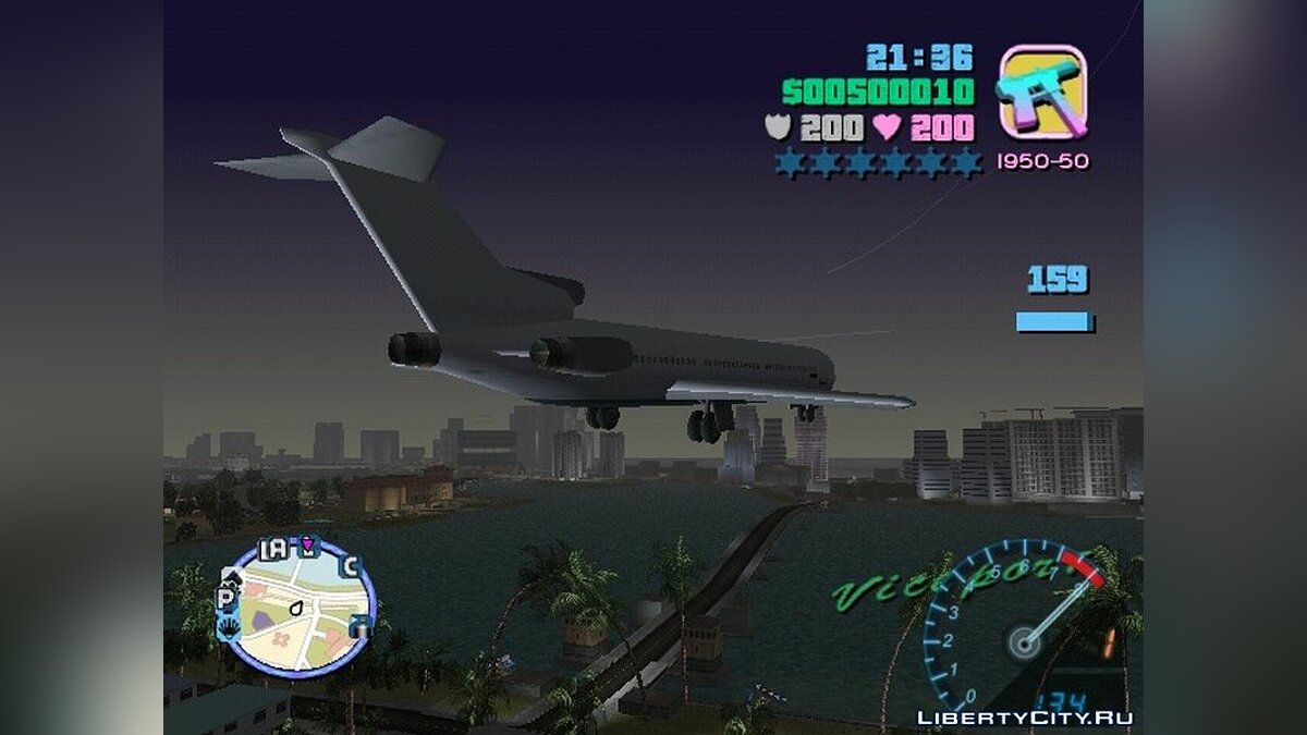Planes and helicopters Large aircraft control for GTA Vice City