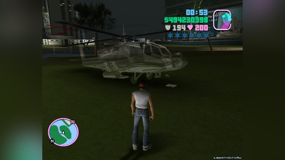 Planes and helicopters Invisible HUNTER by JVT for GTA Vice City