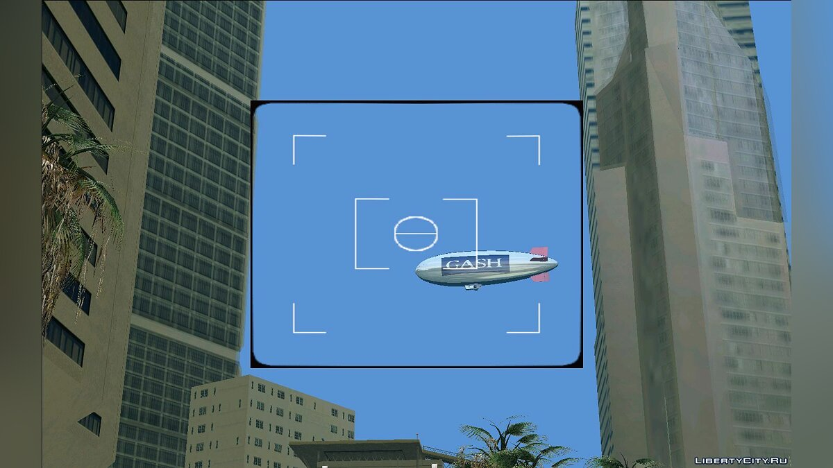 Planes and helicopters Airship HD for GTA Vice City