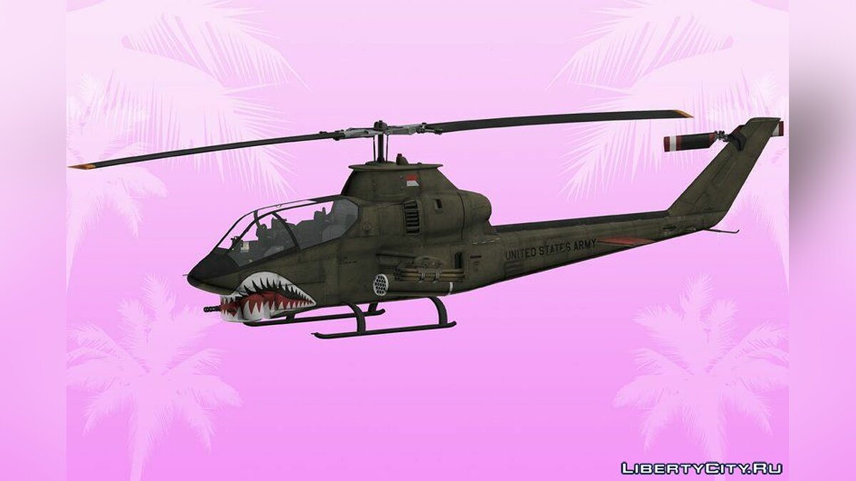 Planes and helicopters HD AH1G Cobra for GTA Vice City