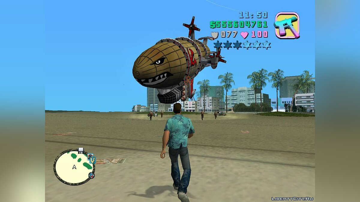 Planes and helicopters Kirov Reporting - Airship from Red Alert 3 for GTA Vice City