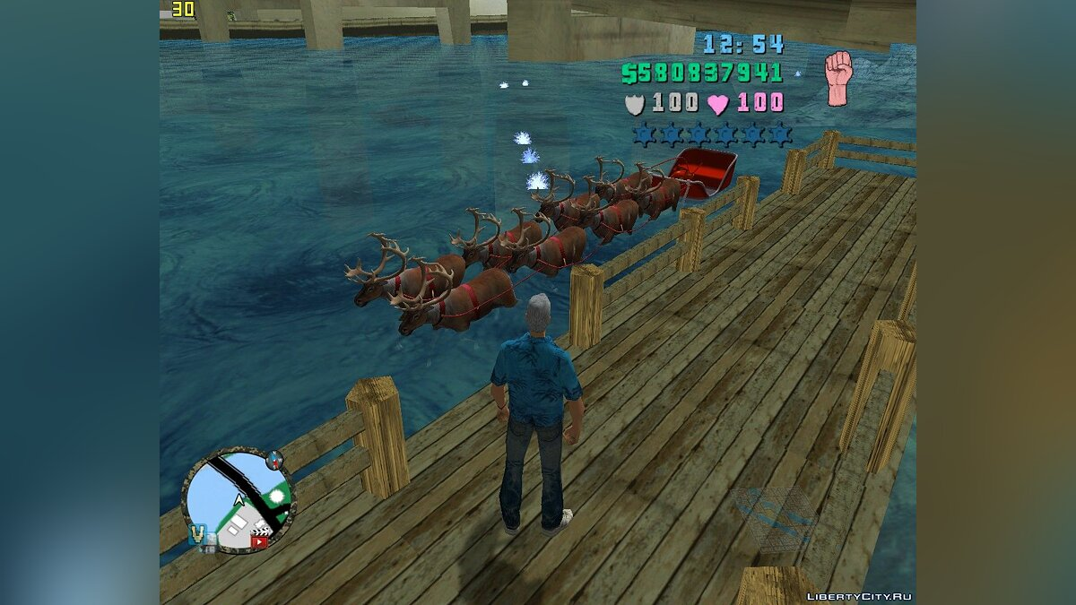 Planes and helicopters Flying sleigh of santa claus for GTA Vice City