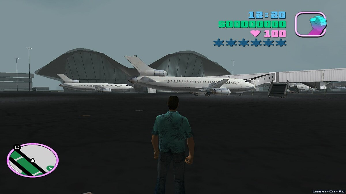 Planes and helicopters SRTT Airtrain for GTA Vice City