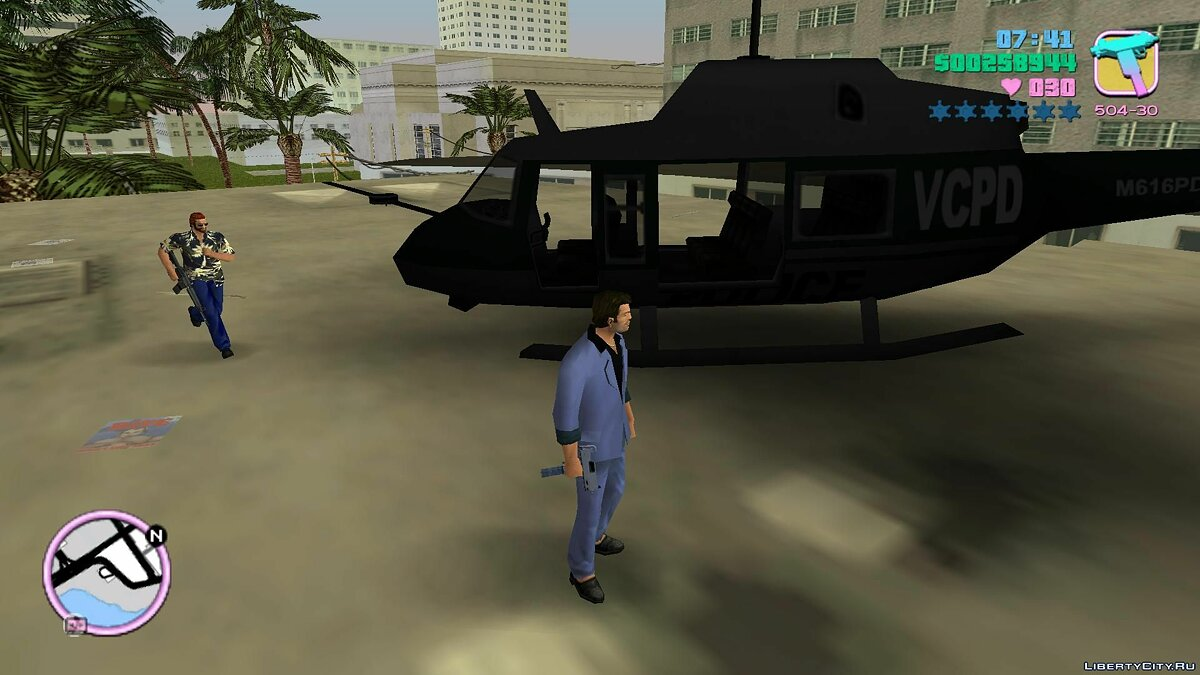 Planes and helicopters Helicopter from GTA 3 for GTA Vice City