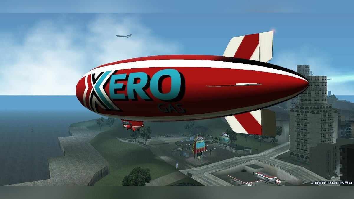 Planes and helicopters Xero blimp for GTA Vice City