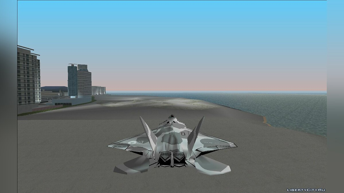 Planes and helicopters Raptor F-22 for GTA Vice City