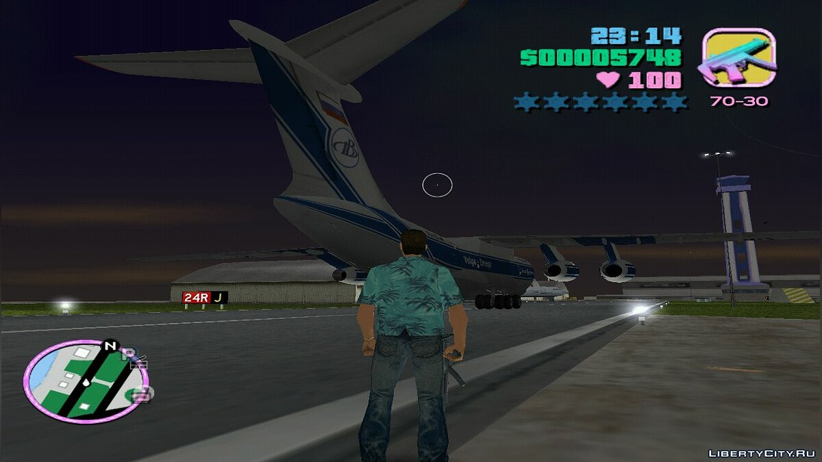 Planes and helicopters IL-76TD-90VD Volga-Dnepr for GTA Vice City