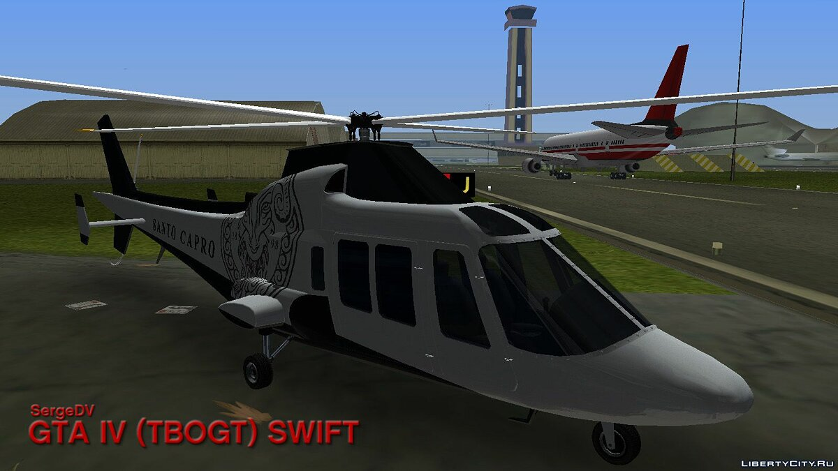 Planes and helicopters GTA IV (TBoGT) Swift for GTA Vice City