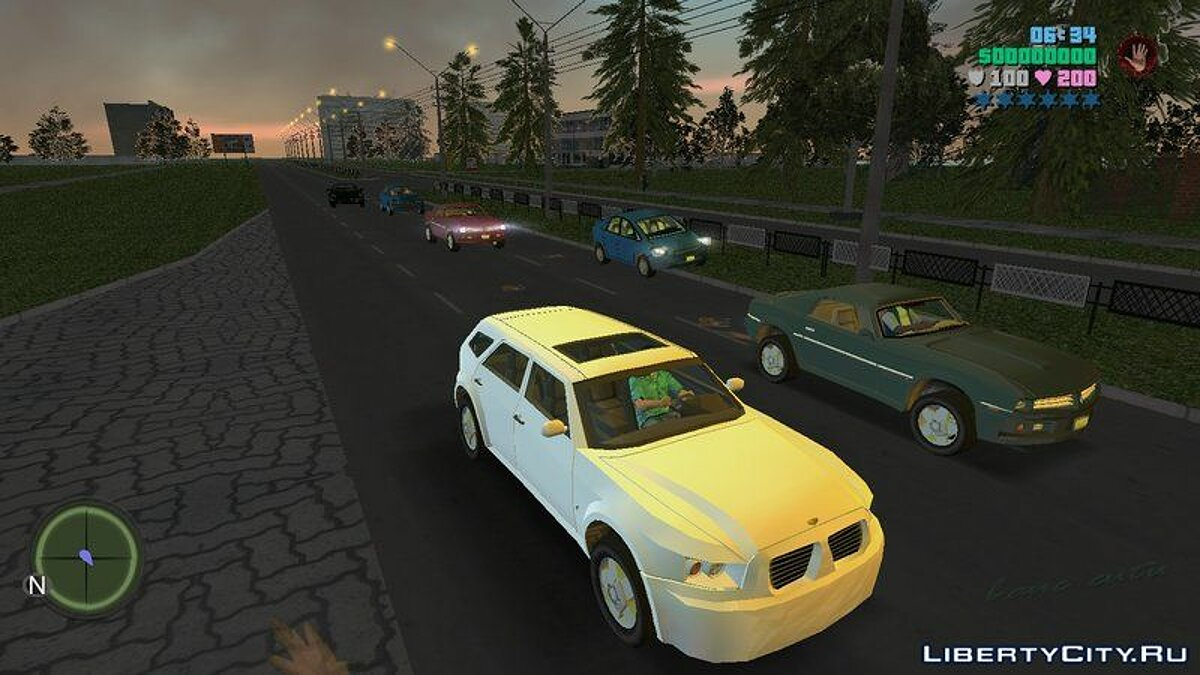 Car packs 25 cars from Saints Row: The Third for GTA Vice City