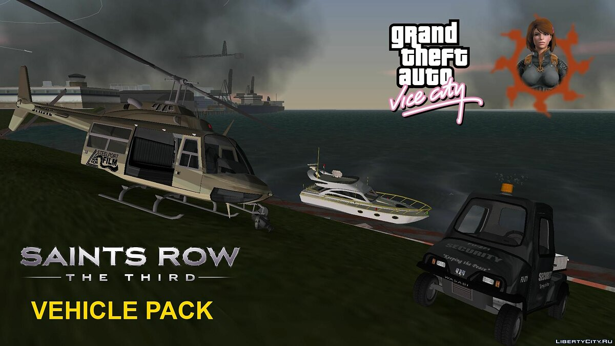 Car packs Saints Row The Third and IV Vehicle Pack for GTA Vice City