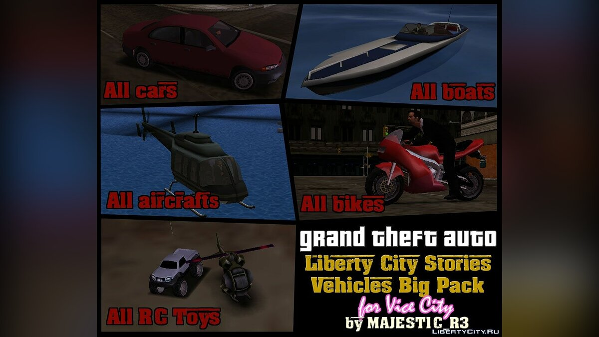 Car packs LCS Big Vehicles Pack for GTA Vice City