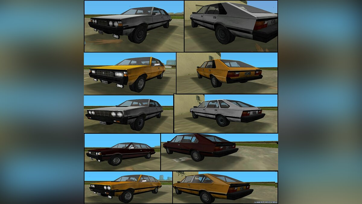 Car packs FSO Polonez MR'78-83, 3-door, Coupe, 1.5C, MR'87 for GTA Vice City