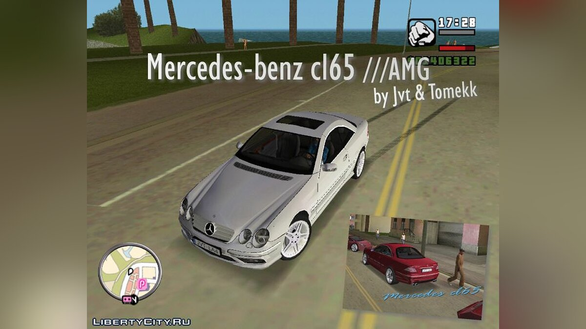 Mercedes CL65 AMG for GTA Vice City