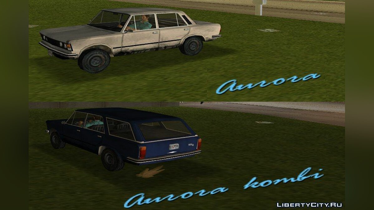 Car FIAT 125p sedan and station wagon for GTA Vice City