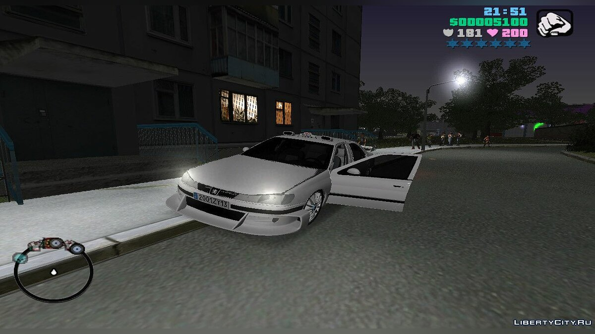 Car Peugeot 406 Taxi 2 for Gta vice city (MVL) for GTA Vice City